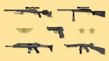 airsoft pistol vektor