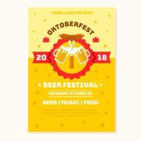 Oktobefest Flyer Bierfestival Vector