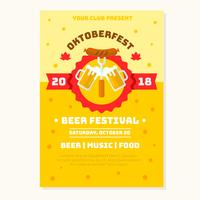 vettore festival oktobefest flyer birra