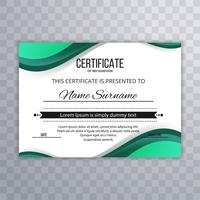 Abstract creative certificate wave background