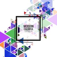 Modern colorful triangles background vector