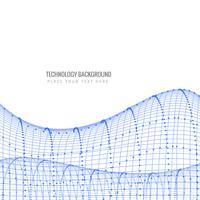 Vector de onda elegante tecnología creativa abstracta