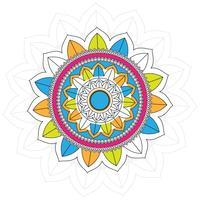 Modern colorful mandala background