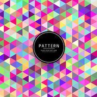 Vetor de ilustração elegante padrão geométrico colorido