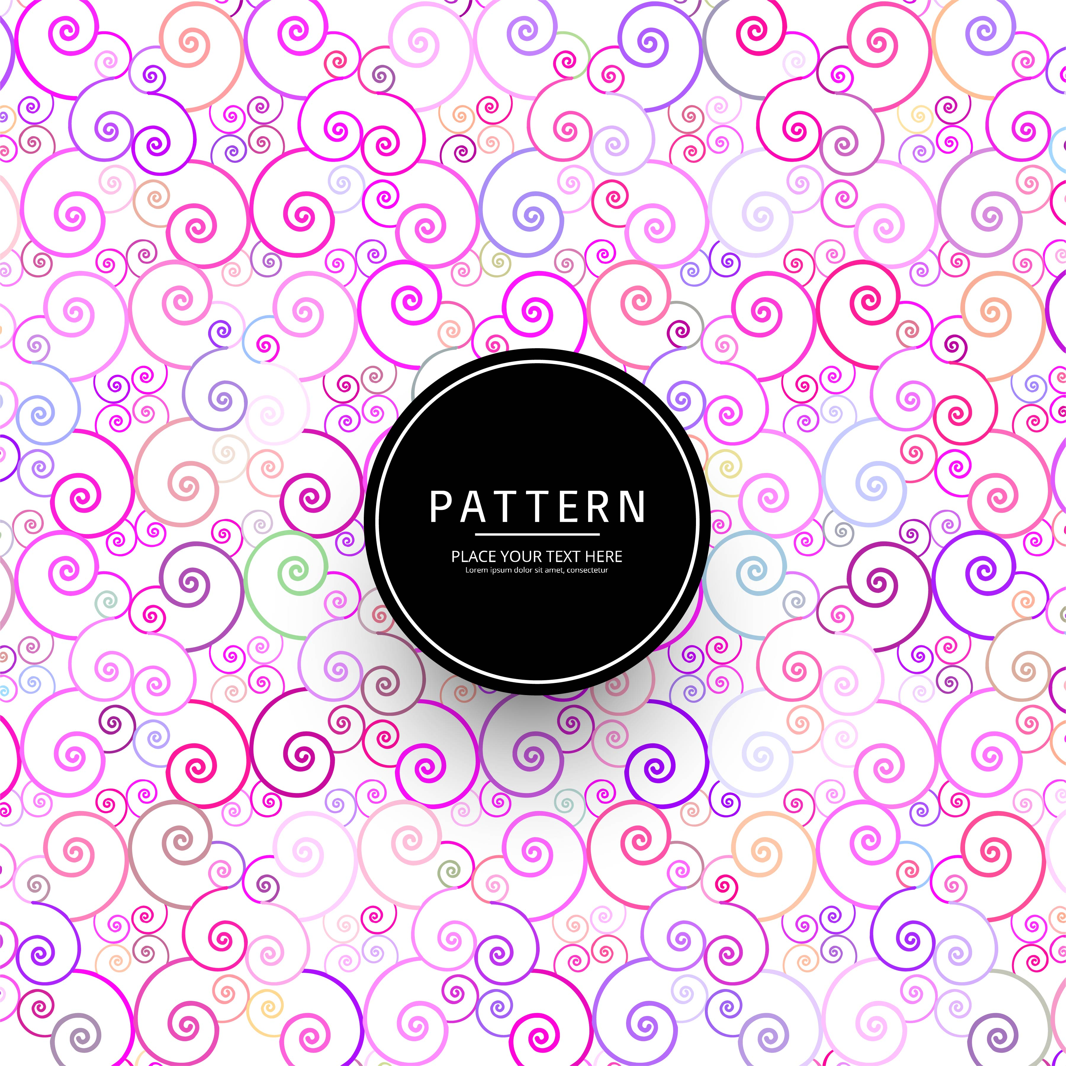 Abstract Elegant Colorful Floral Pattern Background Download