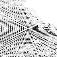 Modern circular halftone background