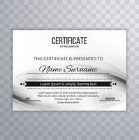 Conception de modèle de certificat moderne