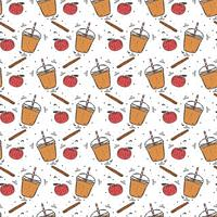 Apple Cider Slush patroon Vector