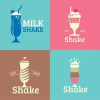 Collection of diner milkshakes logo