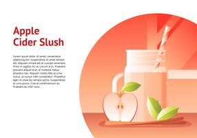 Apple Cider Slush Drink