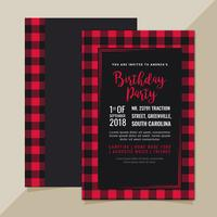 Vektorinbjudan med Buffalo Plaid Pattern