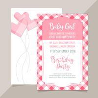 Vector Pink Plaid Invitation