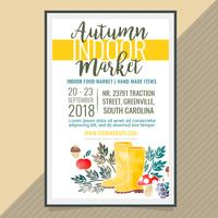 Vector Autumn Indoor Market Poster