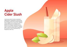 Apple Cider Slush Vector