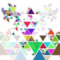 Abstrait de polygone de triangle coloré