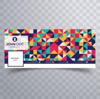 Hermoso colorido facebook plantilla de plantilla de banner de línea de tiempo