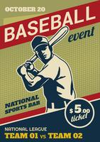 Baseball Park Event Flyer vector