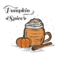 Pumpa Spiced Latte Vector
