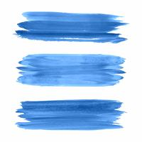 Hand draw blue watercolor strokes set vector