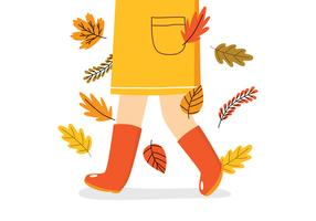 Legs Wearing Long Boots vector