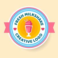 Milkshake Logo Badge Estilo Vector