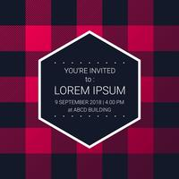 Trendy Lumberjack Pattern Party Invitation Design Template