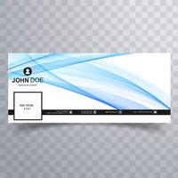 Abstract wavy facebook banner template