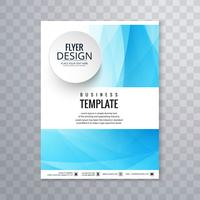 Abstract blue business brochure template design