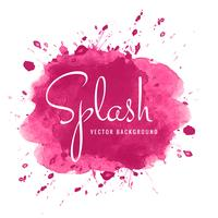 Fond abstrait splash aquarelle rose