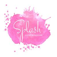 Beau design splash rose aquarelle