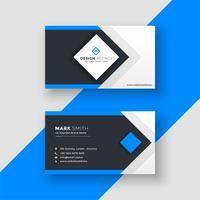 awesome geometric blue business card design