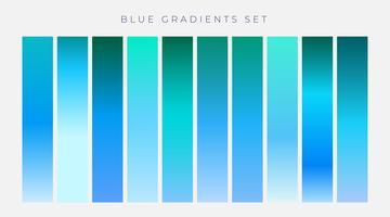verzameling van blauwe kleurovergangen achtergrond
