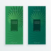 lämnar banderoller i grön färg