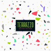 colorful terrazzo pattern background design