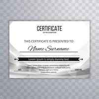 Modern certificate design wave background