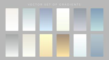 set of subtle gradients design