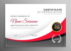 modelo de design de certificado de sucesso profissional