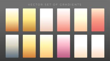 elegant set of premium gradients