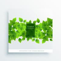 Fondo de cubierta de tarjeta de hojas verdes