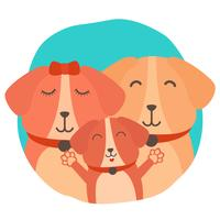 Dog Family Vector Illustration