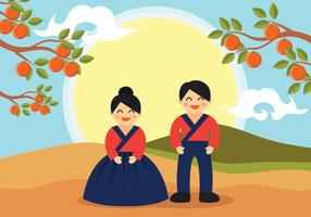 Chuseok Vector Background