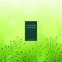 subtila gröna blommiga lövbakgrund