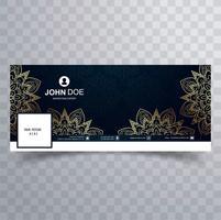 Modèle de bannière facebook floral décoratif moderne