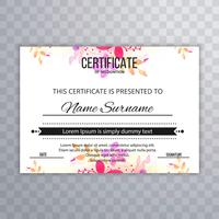 Beautiful certificate design background