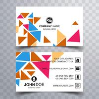Modern colorful polygon business card template