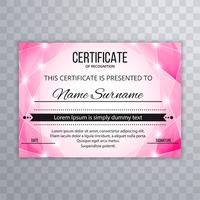 Elegant certificate template background design vector