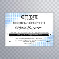 Modern certificate template background design