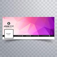 Abstract colorful facebook template background vector