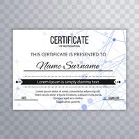 Abstract certificate template background illustration