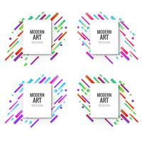 Abstract colroful lines banners set design